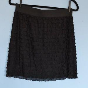 Stretchy Ruffled  Black Xhilaration Skirt